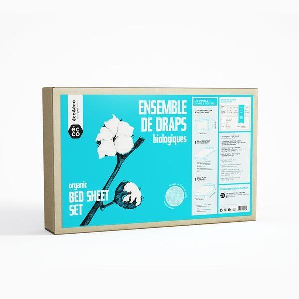 Draps pour lit double écologique