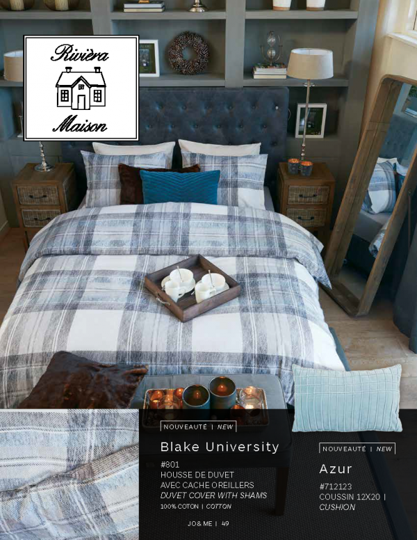 Housse de couette de la collection Blake University
