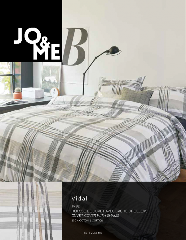Housse de couette collection Vidal par Jo & Me