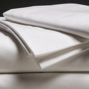 Drap de coton blanc