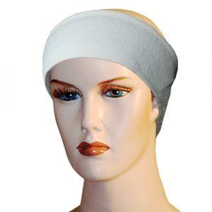 Bandeau de spa en bambou blanc sur un mannequin