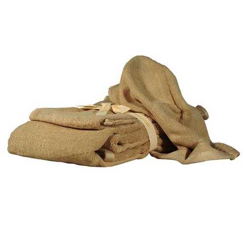 Serviettes en bambou pour le corps de couleur brun latte