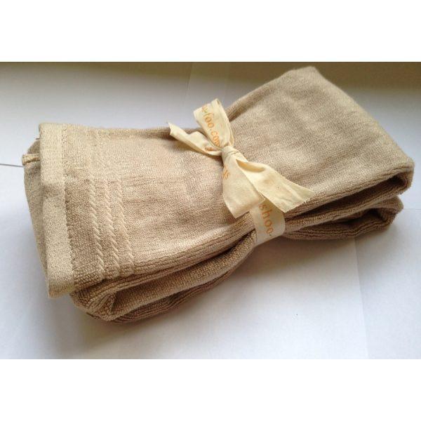 Serviettes pour les mains en bambou couleur neutre